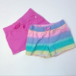 BUNDLE- Rainbow and Pink Summer Shorts, Size 5